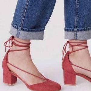 Ann Taylor LOFT Lace Up Block Heels
